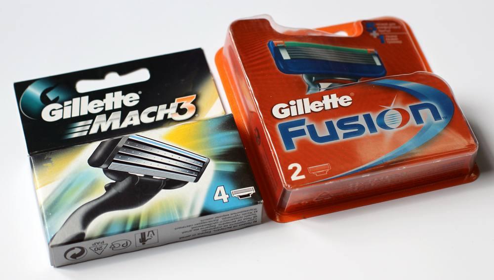 Фото: Сменные кассеты для бритвы марки Gillette