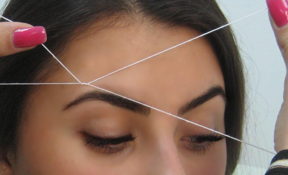 Фото: удаление волос нитью